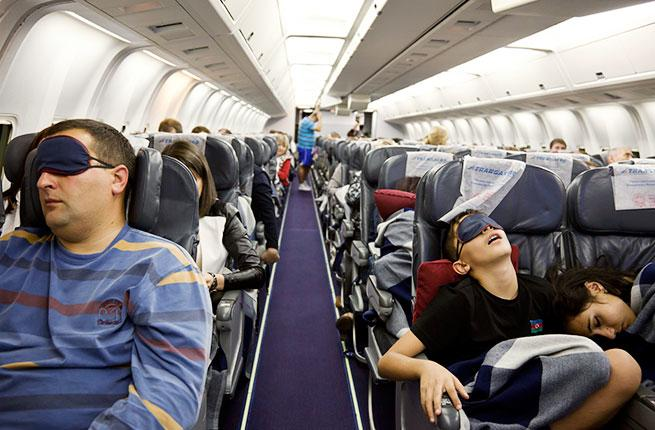 Sleeping on Plane