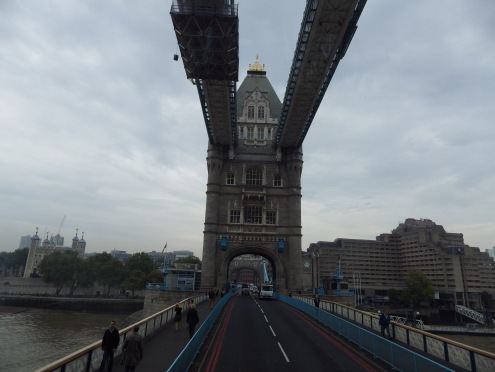 Crossing the Tower Bridge