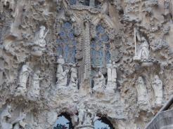 Basílica de la Sagrada Familia exterior Nativity facade.