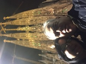 Us and the Basilica de la Sagrada Familia
