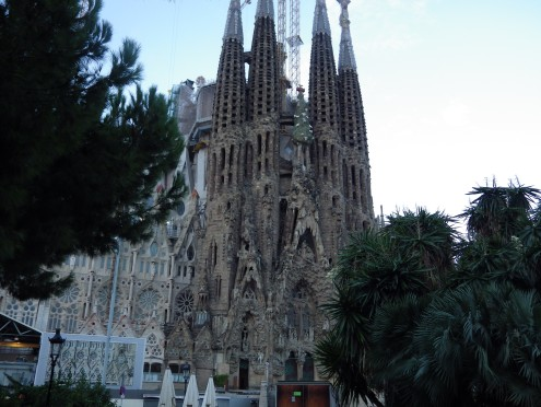 Basilica de la Sagrada Familia in Barcelona, Spain