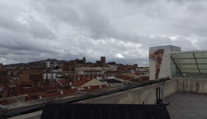 View from the rooftop restaurant, El Mirador de Galarza, terrace.
