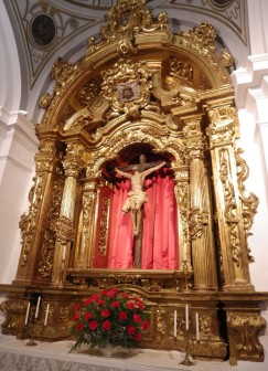 The altar of the Church of the Precious Blood