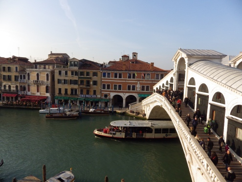 View of Rialto Bridge and Grand Canal